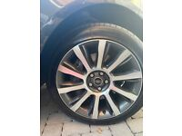 """21"""" Range Rover Vogue, Dimond Cut Alloy Wheels and Tyres (new tyres, perfect condition alloys)"""