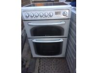 Hotpoint 60cm wide electric ceramic cooker free delivery installtion £99