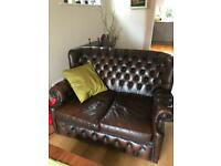Beautiful Monks back Chesterfield sofa