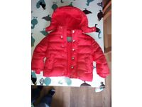 Red winter coat for 2 year old, John Lewis