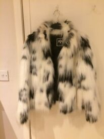 Fur Coat - Dalmation Style from River Island