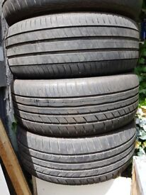 Tyres for Sale 225/55/17 Michelin, Goodyear and Jinyu Tyre