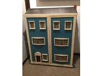 Large solid handmade Victorian wooden dolls house...great project or kids toy