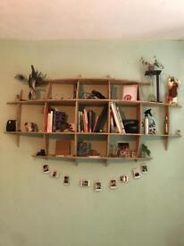 Custom sterling board shelf
