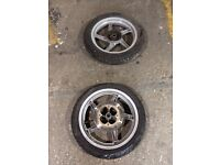 Honda sh set of wheels new tyres offers not Piaggio Yamaha gilera Ktm Suzuki typhoon zip