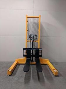HOC SYC1563 HYDRAULIC WIDE LEG PALLET STACKER FORKLIFT 3300 LB + 63 INCH HEIGHT CAPACITY + FREE SHIPPING