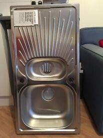 Selection of brand new stainless steel sinks fir sale