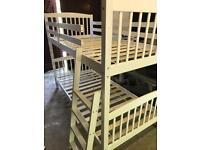 White Bunk Beds w/ 2x Mattresses - Good Condition