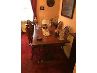 Old Charm dining table and chairs. Excellent condition