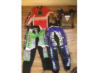 Kids motor cross wulfsport body armour trousers