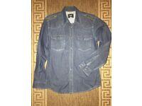 Dolce & Gabbana D&G Authentic Blue Denim Jeans Slim Men Shirt Size M