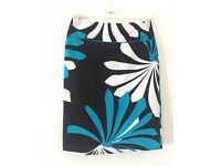 Skirt (black/blue/white, size 38/ UK 8-10, used, good condition)