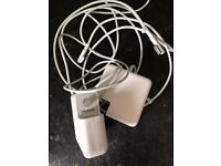 2 macbook chargers ( no plugs,) spares or repairs