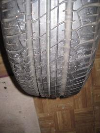 Dunlop SP Sport Tyre on Vauxhall Rim 205-65-15. may swap