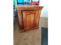 Wood oak cupboard
