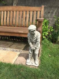 STONE GARDEN GOLFER ORNAMENT -FATHERS DAY