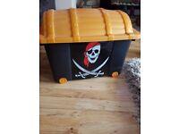Pirate treasure chest storage box
