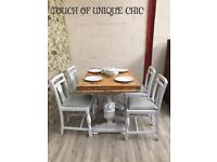 Vintage dining table and chairs Laura Ashley