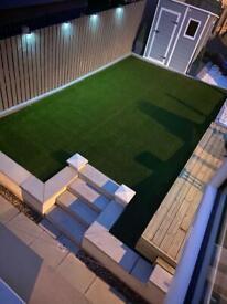 Artificial grass - fencing -decking