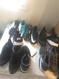 Boys football boots and trainers mixed