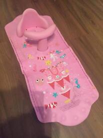 Aquapod bath seat and mat