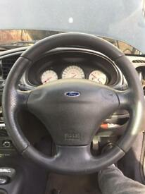 Leather Ford puma steering wheel