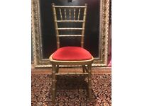 Gold painted events chairs (16)