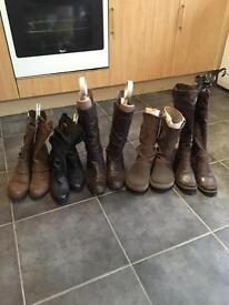 5 Pairs of Women's Boots Size 4-5