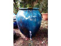 Beautiful large glazed ceramic garden plant pot / planter