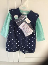 M&Co baby girl 3 piece set - BRAND NEW with tags