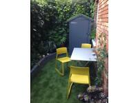 Vitra TipTon indoor/outdoor chairs x 4 mustard