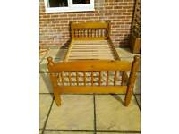 Solid pine single bed in good condition