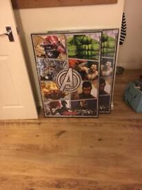 Marvel avengers framed picture