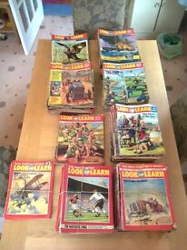 A large collection of Look and Learn magazines