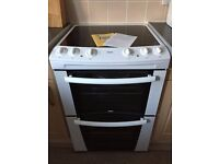 Excellent ZANUSSI ZKC6000: 60cm wide Convection Double oven Electric cooker with a Gas hob
