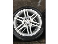 Mercedes C class AMG alloy wheels and tyres