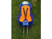 Hamax Siesta Rear Child Bike Seat - Orange/blue with lockable bracket