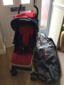 Maclaren Quest Blue and Red Pushchair with all the Extras