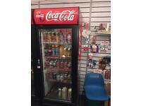 Coca-Cola single shop fridge