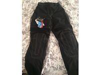 Motor bike trousers by Biker Gear Australia , lightweight , waterproof and reinforced