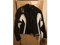 Motorcycle,Motorbike women jacket Furygan Ladies Nina Vented 2in1 Jacket - Black / White NEW size S