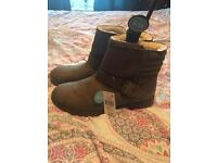 Chocolate ladies brown ankle boots size 6