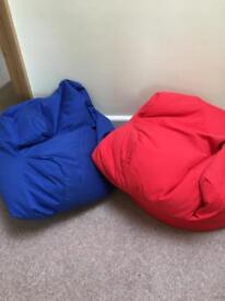 Red or blue beanbags