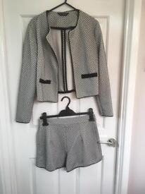 Ladies co-ord shorts and jacket size 8
