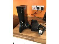 Xbox 360, 250G slim line. Perfect working condition with 1 controller.