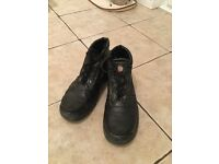 Steel-toe boots size 9