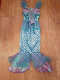 GIRLS DISNEY PRINCESS ARIEL MERMAID FANCY DRESS COSTUME AGE 8-9 YEARS