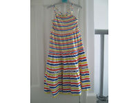 GIRLS STRIPED SUMMER MAXI DRESS - AGE 7-8 (BUT QUITE LONG) VGC