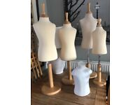 Mannequin 4 x Children's Mannequins and one wooden torso