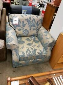 Beautiful flock floral pattern armchair